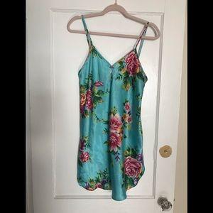 Short floral Silk Dress, vintage